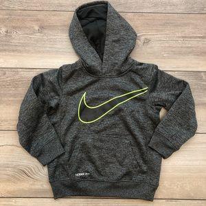 NIKE size 5 dark gray hooded sweatshirt